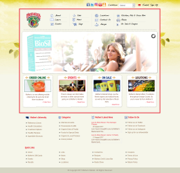 Mothers Market website designed with Joomla