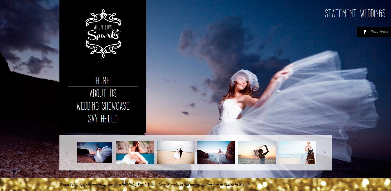 When Love Sparks Australia Website designing