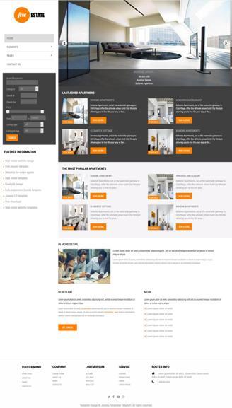 real estate free joomla template